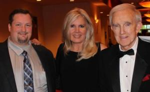 Clay Lehmann (Coyote McCloud's son), Cathy Martindale, Ralph Emery---photo from Cathy Martindale